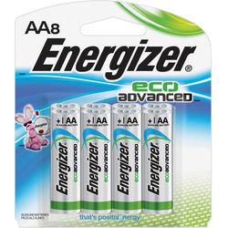 Energizer EcoAdvanced AA Batteries (8-Pack)