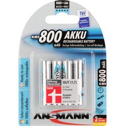 Ansmann maxE AAA Rechargeable NiMH Batteries (1.2V, 800mAh, 4-Pack)