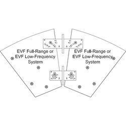 Electro-Voice HRK-1W Horizontal Rigging Kit for EVF Series (White)
