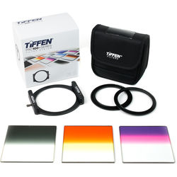 "Tiffen Pro100 Premium Skyline Filter Kit with 4 x 4"" Soft-Edge Graduated Neutral Density 0.6, Graduated Sunset, and Graduated Twilight Filters"
