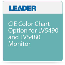 Leader CIE Color Chart Option for LV5490 and LV5480 Monitor