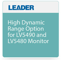 Leader High Dynamic Range Option for LV5490 and LV5480 Monitor