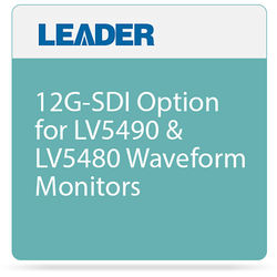 Leader 12G-SDI Option for LV5490 & LV5480 Waveform Monitors