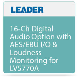 Leader 16-Ch Digital Audio Option with AES/EBU I/O & Loudness Monitoring for LV5770A