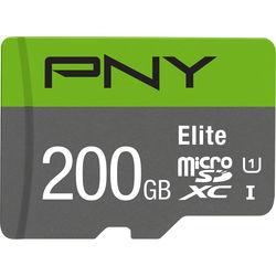 PNY Technologies 200GB Elite UHS-I microSDXC Memory Card