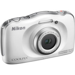 Nikon COOLPIX S33 Digital Camera (White, Refurbished)