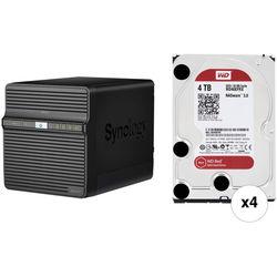 Synology DiskStation 16TB DS416j 4-Bay NAS Server Kit (4 x 4TB)