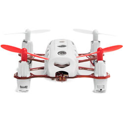 HUBSAN Nano Q4 Plus H111C Quadcopter with 480p Camera (White/Red)