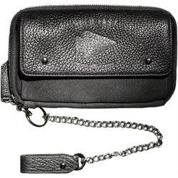 HoldFast Gear Explorer American Bison Leather Wallet (Black)