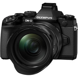 Olympus OM-D E-M1 Mirrorless Micro Four Thirds Digital Camera with 12-40mm f/2.8 Lens (Black)