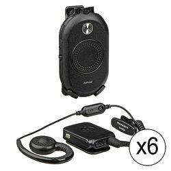 Motorola 6 x CLP1060 Two-Way Radio With Bluetooth