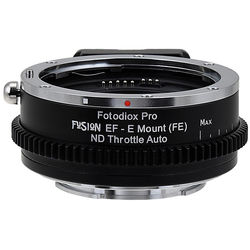 FotodioX Canon EF/EF-S Lens to Sony E-Mount Camera FUSION ND Throttle Auto Adapter