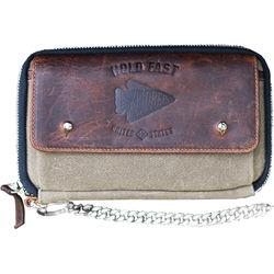 HoldFast Gear Explorer American Bison Leather Wallet (Olive/Brown)