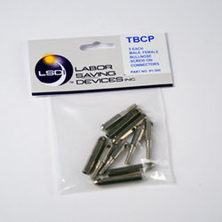 Labor Saving Devices Threaded Bull-Nose Connector Replacement Tip Pack