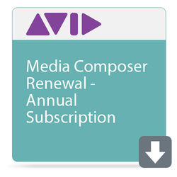 Avid Technologies Media Composer Renewal (Annual Subscription)