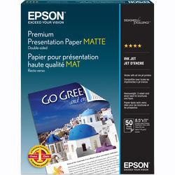 "Epson Premium Presentation Paper Matte Double-Sided (8.5 x 11"", 50 Sheets)"