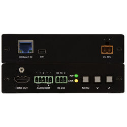 Atlona HDBaseT Scaler with HDMI & Analog Audio Outputs with Power Supply