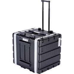 DeeJay LED 10RU ABS Case with Locking Wheels