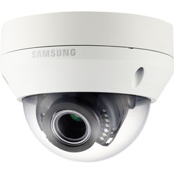Hanwha Techwin WiseNet HD+ 1080p Outdoor Vandal-Resistant Dome Camera with 2.8-12mm Varifocal Lens & Night Vision (Ivory)