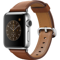 Apple Watch Series 2 38mm Smartwatch ( Stainless Steel Case, Saddle Brown Classic Buckle Band)