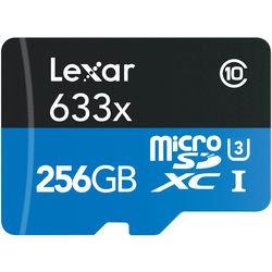 Lexar 256GB High Performance 633x microSDXC UHS-I Memory Card