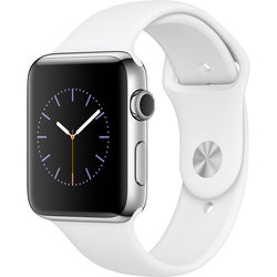 Apple Watch Series 2 42mm Smartwatch ( Stainless Steel Case, White Sport Band)