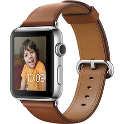 Apple Watch Series 2 42mm Smartwatch ( Stainless Steel Case, Saddle Brown Classic Buckle Band)