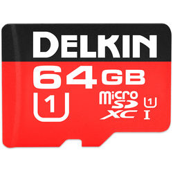 Delkin Devices 64GB 500x microSDXC UHS-I Memory Card