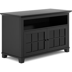 "Salamander Designs Audio/Video Cabinet in Matte Black with Glass Doors (50 x 31 x 22.5"")"