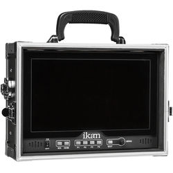 "ikan D12-FK 12"" HDMI/3G-SDI LCD Monitor Field Kit for V-Mount & Gold Mount with Hard Case"