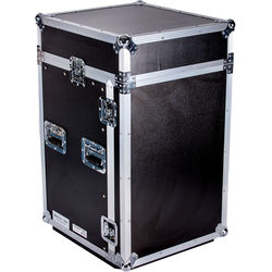 DeeJay LED 10RU Slant Mixer Rack / 10RU Vertical Rack System with Caster Board