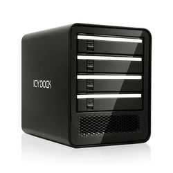 "Icy Dock 4-Bay 2.5""/3.5"" SATA HDD/SSD USB 3.0/eSATA Port Multiplier External JBOD Enclosure (Black)"