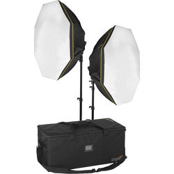Impact Octacool-6 Fluorescent 2 Light Kit with Case and Stands