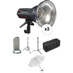 Photogenic StudioMax III Pro 3 Light Kit (120VAC/12VDC)