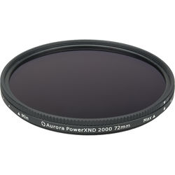 Aurora-Aperture 72mm PowerXND 2000 Variable Neutral Density 1.2 to 3.3 Filter (4 to 11 Stops)