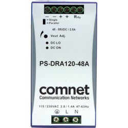 COMNET PS-DRA Series 48V Industrial DIN-Rail Mounting Power Supply (120W)