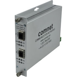 COMNET Single-Channel Multimode HDMI over Multimode Fiber Transceiver with HDCP / EDID / CEC (Up to 3280')