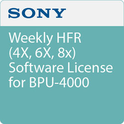 Sony Weekly HFR (4X, 6X, 8x) Software License for BPU-4000