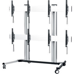 Middle Atlantic DisplayStation Series Monitor Wall with Casters (600 VESA)