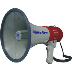 AmpliVox Sound Systems S602MR Mity-Meg Plus 25W Rechargeable-Ready Megaphone with Detachable Microphone