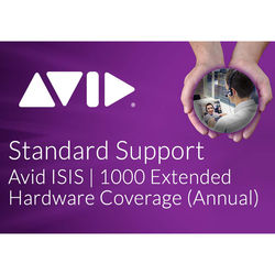 Avid Technologies Extended Hardware Coverage Add-On for ISIS 1000 Software 20TB (Annual)