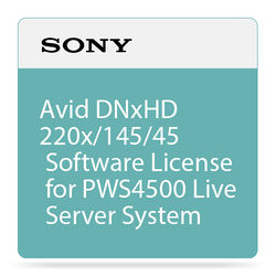 Sony Avid DNxHD 220x/145/45 Software License for PWS4500 Live Server System