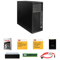 HP Z240 Series Tower Turnkey Workstation with 16GB RAM, 1TB SSD, 4TB HDD, and Blu-ray Drive