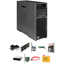HP Z640 Series Turnkey Workstation with 2x Xeon E5-2620 v4, 64GB RAM, 256GB SSD, 5.256TB HDD Total, Quadro M4000, Blu-ray Drive, and Thunderbolt 2 Card