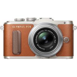 Olympus PEN E-PL8 Mirrorless Micro Four Thirds Digital Camera with 14-42mm Lens (Brown)