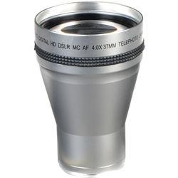 Bower VL437 4.0x High Power Telephoto Lens (37mm Thread, Silver)