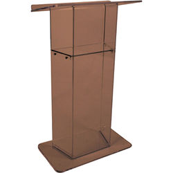 AmpliVox Sound Systems  Smoked Acrylic Lectern