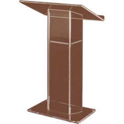 AmpliVox Sound Systems Large Top Smoked Acrylic Lectern