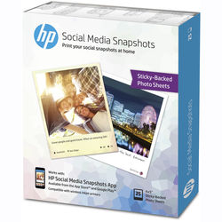"HP Social Media Snapshots Removable Sticky Photo Paper (4 x 5"", 25 Sheets)"