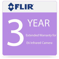 FLIR 3 Year Extended Warranty for E6 Infrared Camera